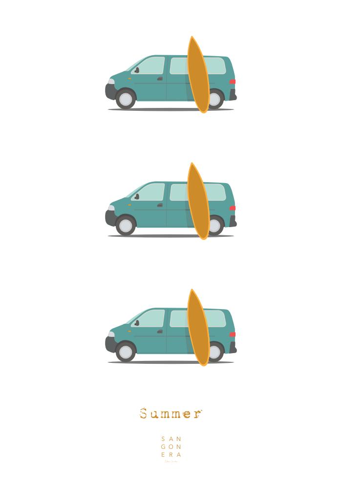Furgonetas, Vans, summer, sangonera design