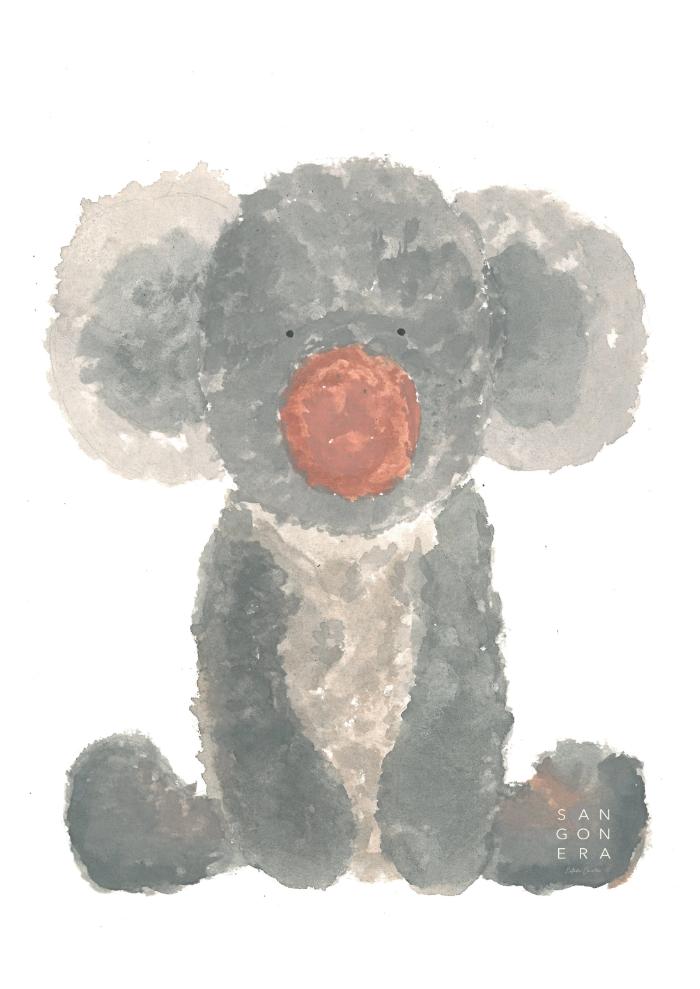 koala, dibujo niños, sangonera design, acuarela