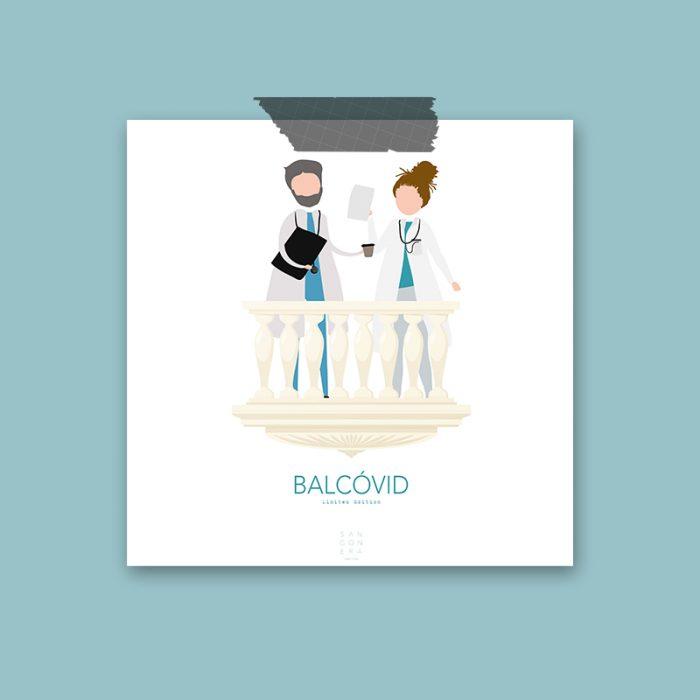 Médicos en balcón, Ilustración, Sangonera Design