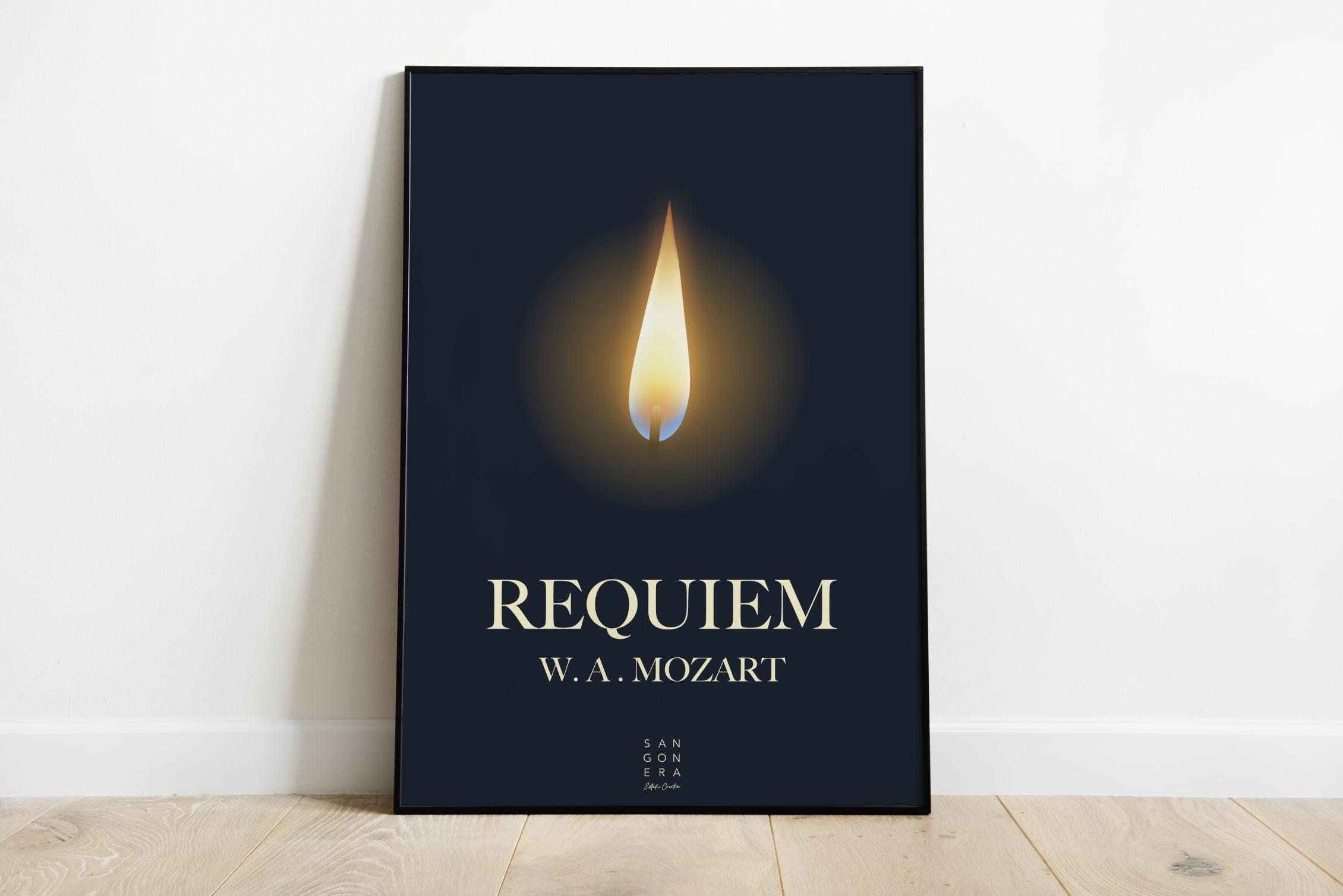 Cartel Requiem W.A. Mozart, Sangonera Design