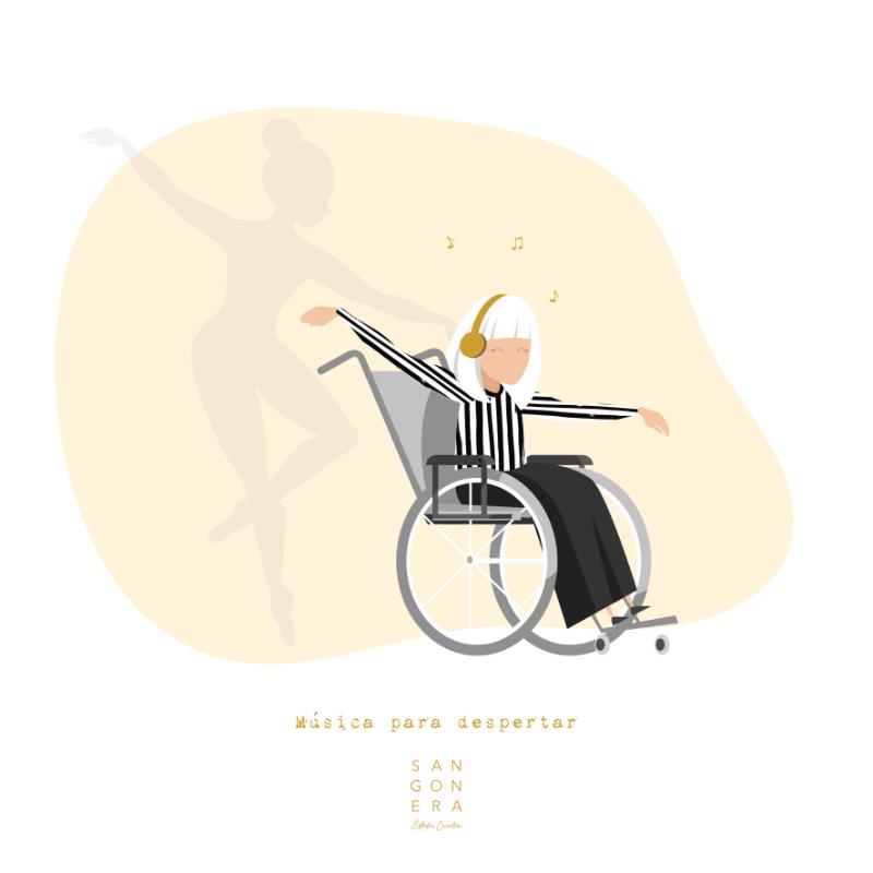Mujer bailarina con alzheimer, Ilustración Personalizada Digital, Sangonera Design