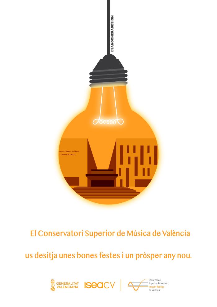 Felicitación, Conservatorio Superior de Música de Valencia, Sangonera Design